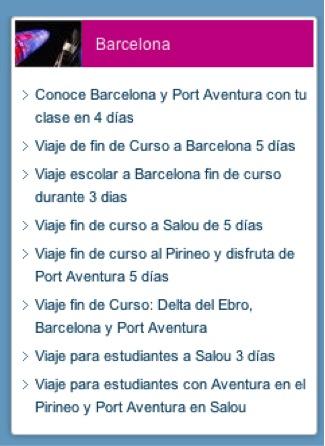 Viajes de estudiantes a Barcelona-viajeteca.net
