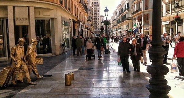 Vista de la Calle Larios  en Andalucia